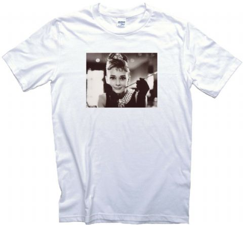 Audrey Hepburn Vintage Movie Poster T-Shirt Gents Ladies Kids Sizes. Classic Film Memorabilia Gift